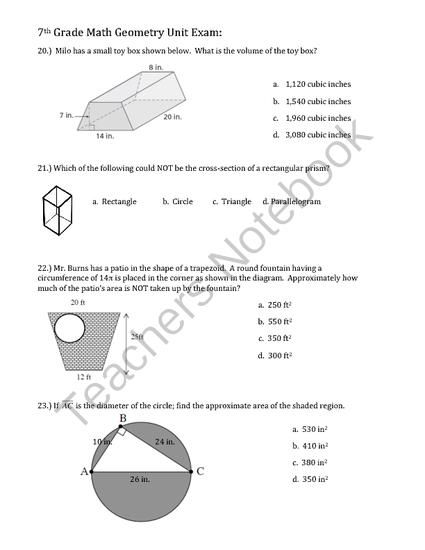Common Core Math Units 7th Grade  math worksheets for 4th grade online 7 mathematics module 2