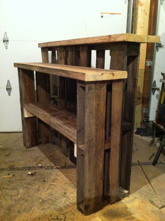 My Newest Pallet Bar Storage Side Pallet And