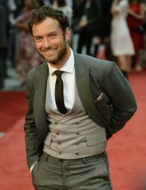 Jude Law at the Anna Karenina premiere on September 4, 2012 in London, UK. look at what that man is wearing...