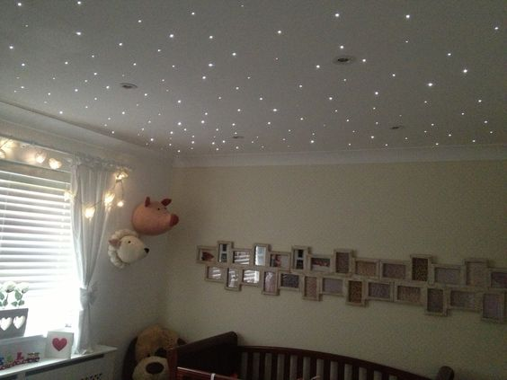 Nursery Fibre Optic Star Twinkle Lights ✨  Remote control operated  Email: dmcelectrical@yahoo.co.uk for a quote