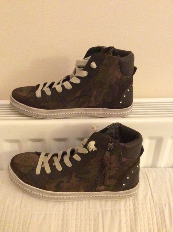 GEOX RESPIRA made in ITALY Ladies Studded CASUAL shoes UK5 EU38 BNWOB RRP£96