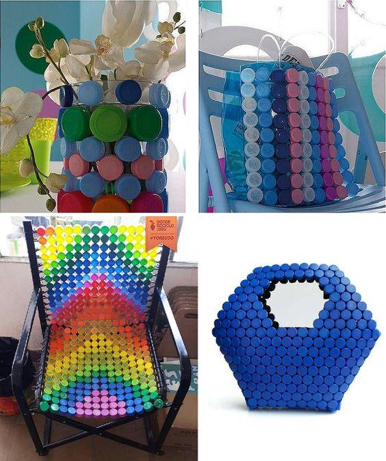 Tappi di plastica: 16 coloratissime idee fai-da-te per riutilizzarli