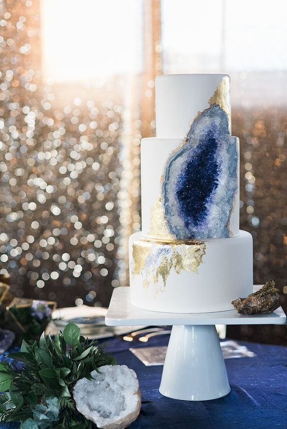Purple Geode Wedding Cake by Rachel Teufel: