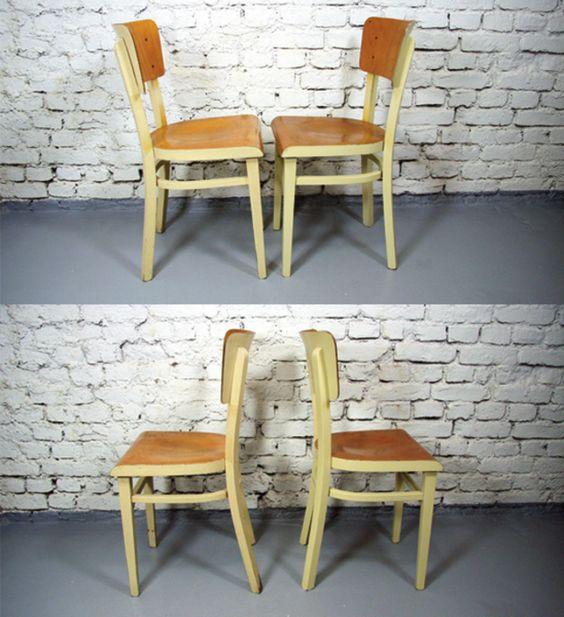 Vintage Stühle - 2 Stück Frankfurter Stuhl Original Lackierung - ein Designerstück von vintage-vintage bei DaWanda