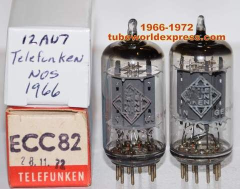2nd Best Telefunken Pair 12au7 Ecc82 Telefunken Germany Smooth Plates Nos 1966 And 1972 1 3 Matched 9 6 10 6ma And Bottle Opener Wall Plates Vaccum
