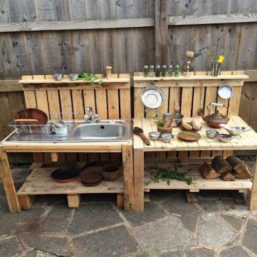 30 Idees De Cuisine Exterieure Diy Pour Le Jardin Qui Sont Simples Et Faciles A Fabriquer Avec Des Palettes En Bois Recup Ces Cuis