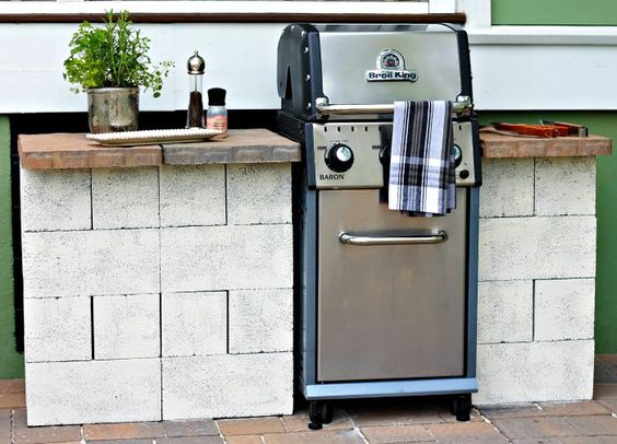 Inexpensive and easy diy outdoor grill station