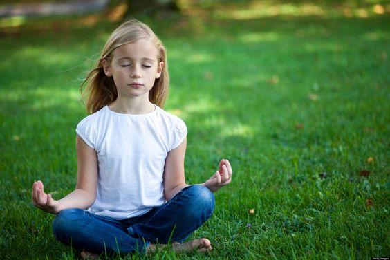 Chicos meditación
