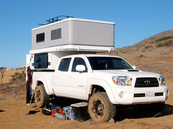Price: $12,595 Slide-in campers peaked in popularity during the 1970s and early 1980s, but they still make sense if you own a pickup. The Finch by 4-Wheel Campers is the company's smallest slide-in and is built to fit crew-cab midsize pickups like the Toy