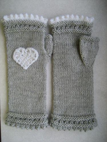 Pulswärmer, Armstulpen, gloves, gestrickt, handmade, herz, valentin