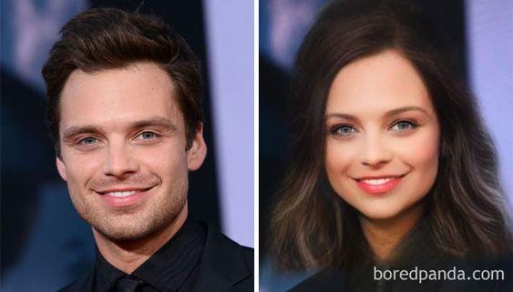 Gender-Swapped Snapchat Filter Sebastian Stan