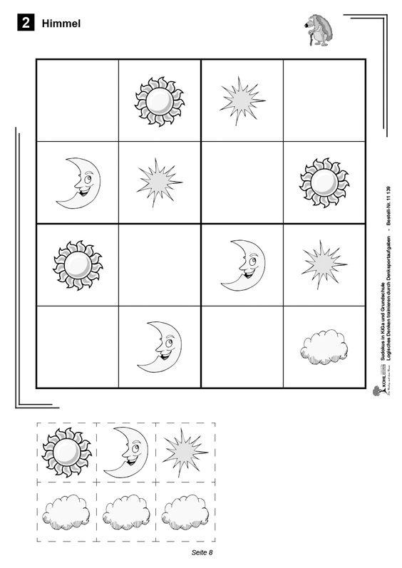Sudokus entdeckenin kindergarten und grundschule for Vorschulaufgaben ausdrucken