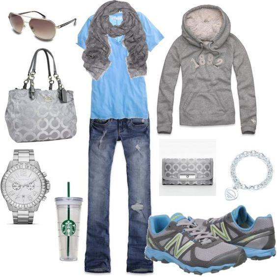 Comfy - jeans, tennis shoes, t-shirt & sweatshirt