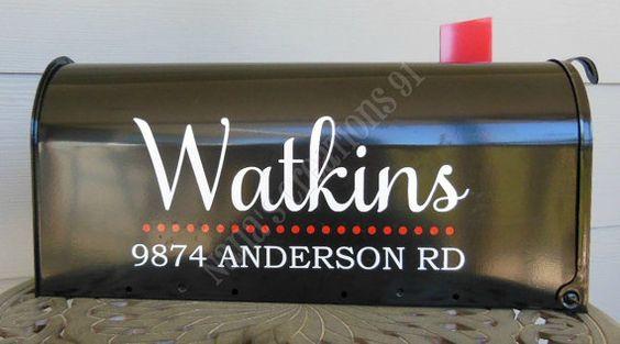 Custom Mailbox Vinyl Decal-Family Name Mailbox by NanasCreations91