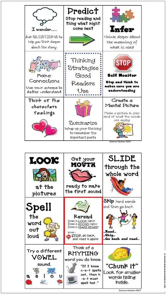 Strategies cut-outs for your kids