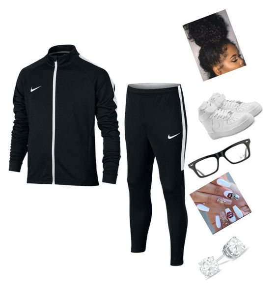 """""""Untitled #561"""" by lani34 ❤ liked on Polyvore featuring NIKE and Ray-Ban"""