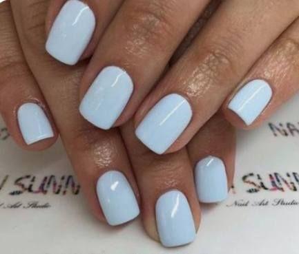 New Manicure Blue Light Ideas Short Acrylic Nails Short Gel Nails Pretty Nails