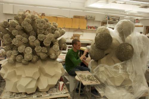 Matt Wedel in his studio 2011