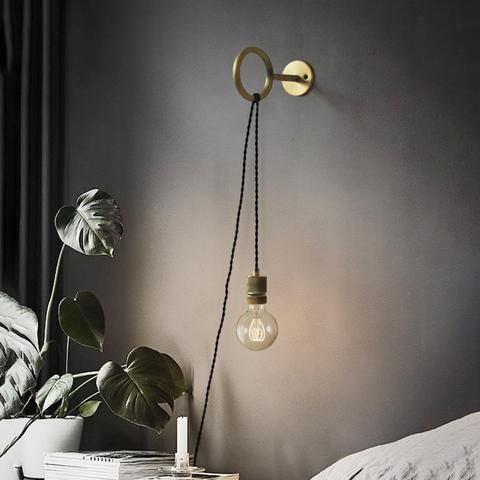 Circus Loop Minimalist Wall Light With Wall Socket Industrial