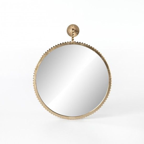 Cru Large Mirror, Aged Gold