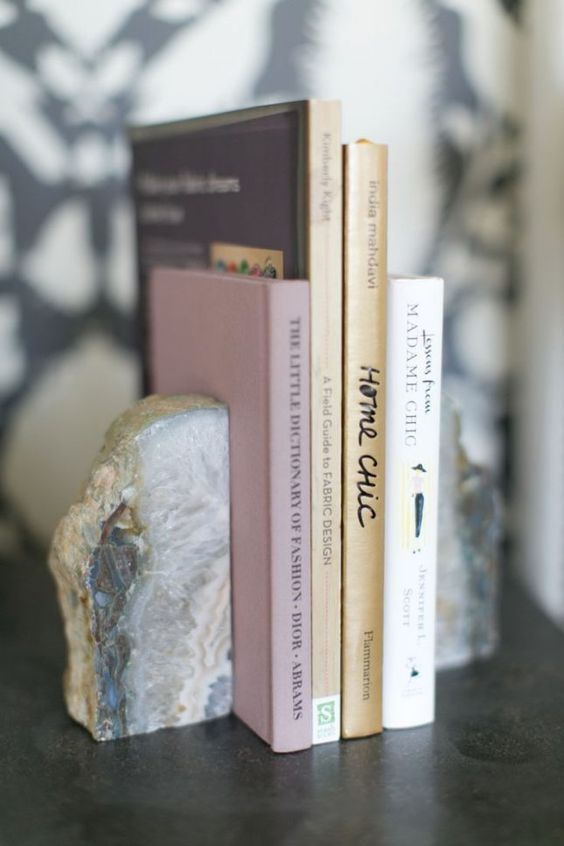 Love this crystal stone rock bookend.: