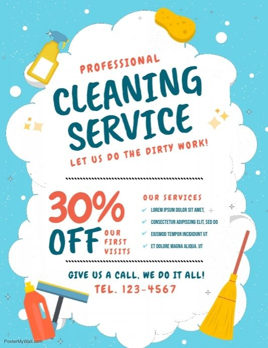 Cleaning Service Flyer Templates Postermywall Cleaning Service