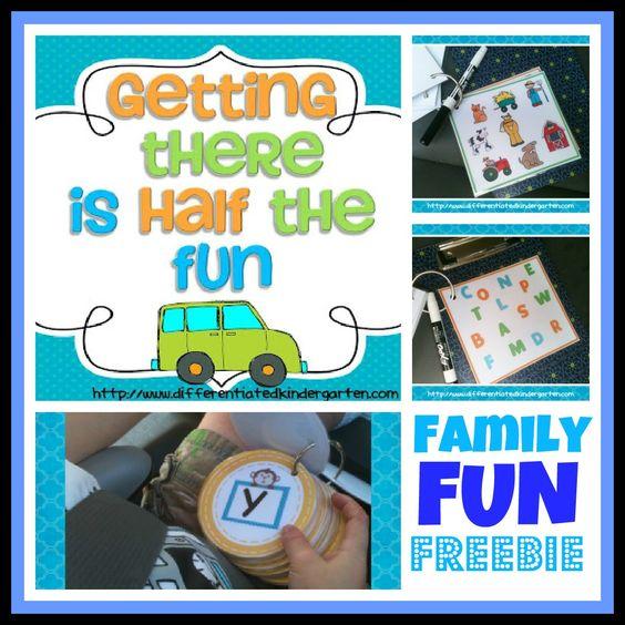 """Getting There is Half the Fun"" Family Fun Freebie for Car Trips"