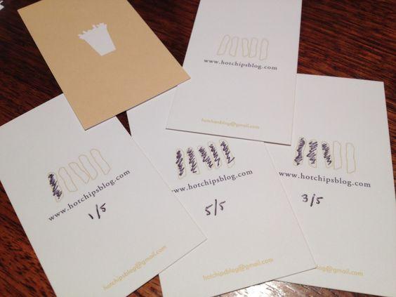 hotchip blog rating business card - super cute idea