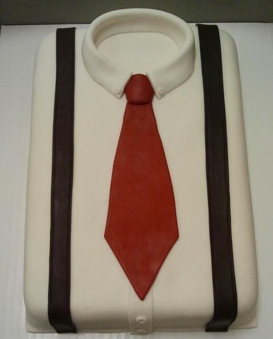 how to make shirt cake with tie