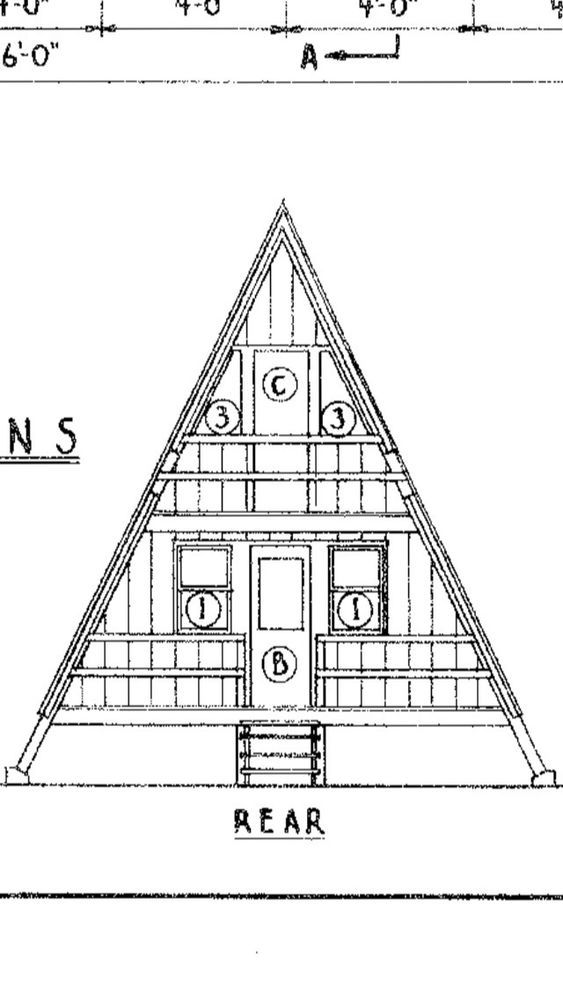 A Frame Cabin Plans 22 X 36 This House Plan Provides A Perfect