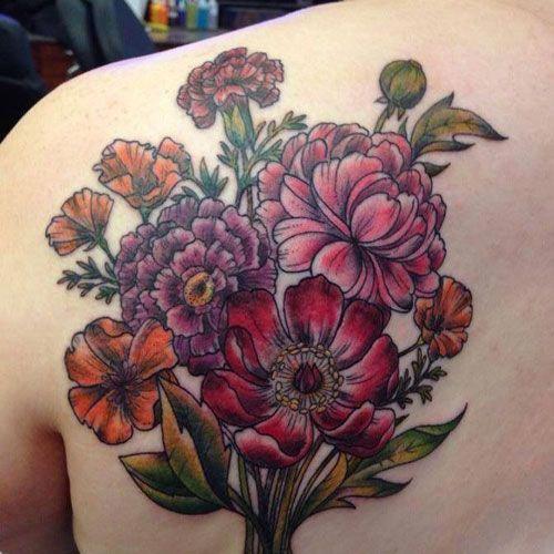 Carnation Flower Tattoo Meaning Best Flower Tattoos Cute Beautiful Flower Tattoo Designs Pretty Rose Ca Flower Tattoos Iris Flower Tattoo Flower Tattoo