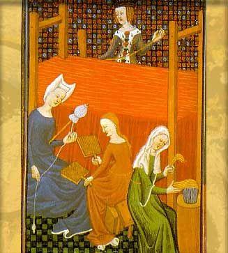 HILANDERAS en la época medieval - Buscar con Google