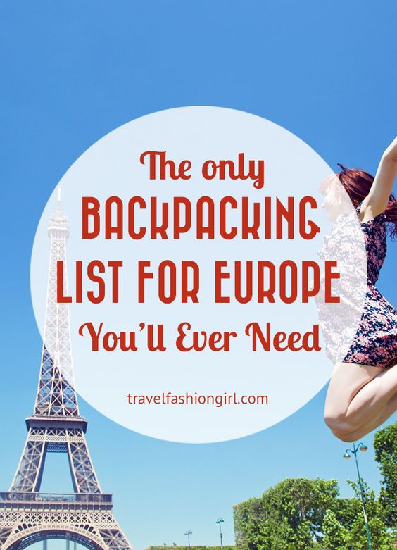 The Only Backpacking Packing List for Europe You'll Ever Need!