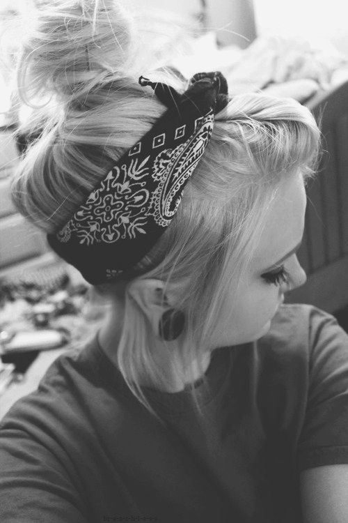 Cute bandana idea..hint of punk