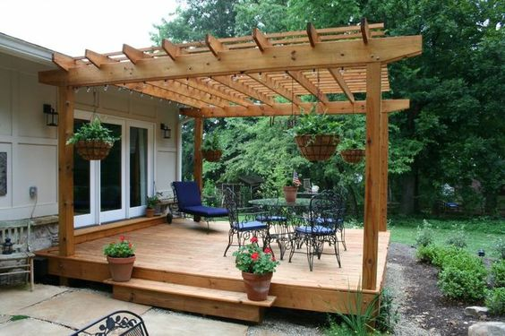Simple Deck Designs | ... Simple Process: Backyard Lanscaping Design With Deck DIY Nazagreen