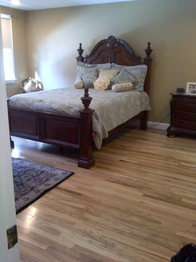 Colors we and the o 39 jays on pinterest for Rustic red oak flooring