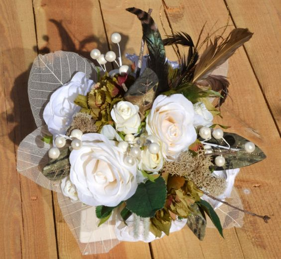 Mossy Oak Camouflage Wedding Bouquet and by SimplyCountryCrafts, $125.00
