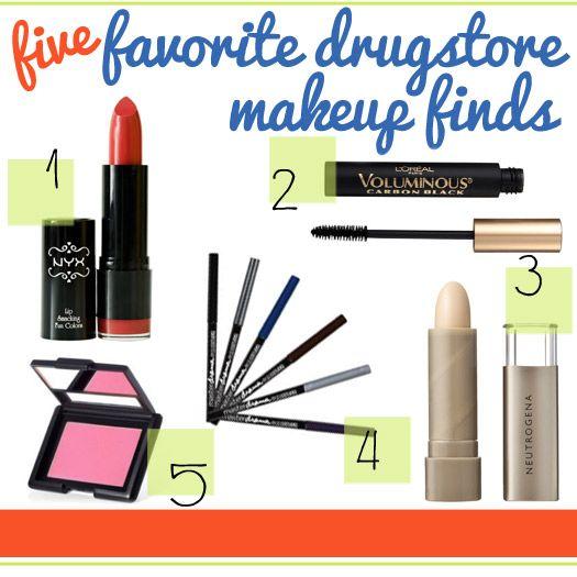5 favorite drugstore makeup finds