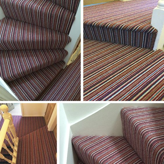 Autumn carpet colours Red Stripe Fitted To Hall And