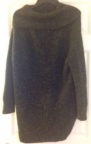 New-128-FREE-PEOPLE-Charcoal-Combo-Turtleneck-Pullover-Size-M