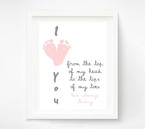 Baby Gift From Grandma : Gifts for grandma baby footprint art and mother day