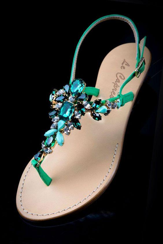 Lovely Sandals Shiny Decoration