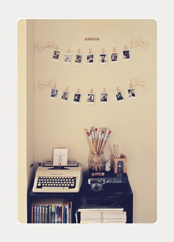 DIY Garland For Your Dorm Room ~ we ❤ this! moncheriprom.com #DIYPhotoGarland