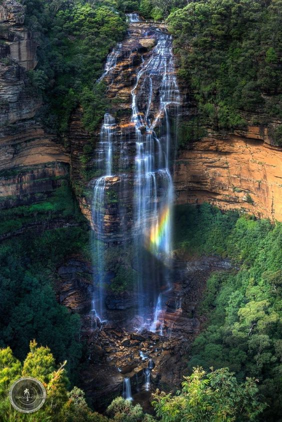 Wentworth Rainbow, Wentworth Falls, Australia,  by Toma Iakopo,Tomojo Photography