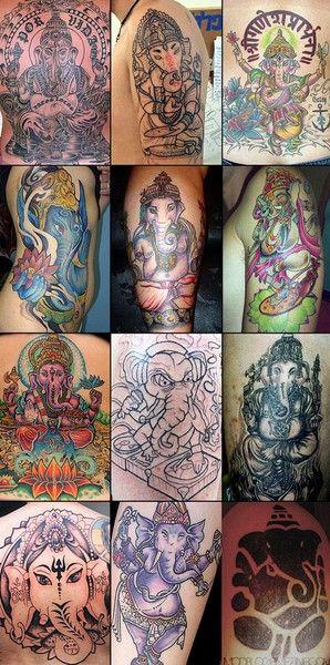 various ganesh tattoos