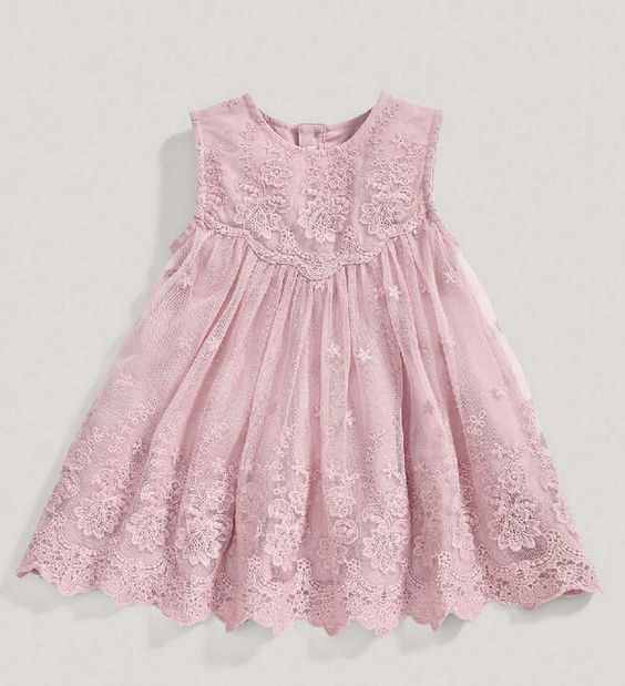 The &quotCamilla&quot Pink Lace Baby   Toddler Dress | girls clothes