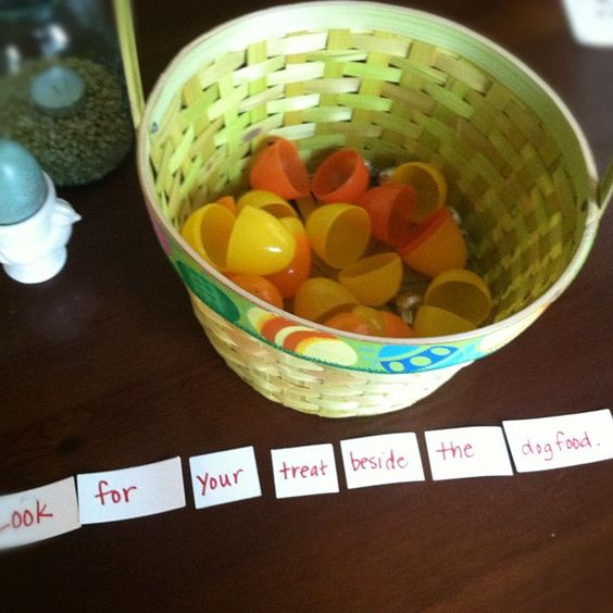Fill Easter eggs with clues instead of candy--lead kids through clues to a Easter basket!!!