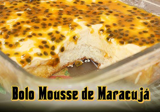 Bolo Mousse de Maracujá - Fácil e Gostoso ( Alice Cristina )