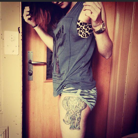 Tattoo, elephant. love it☺️