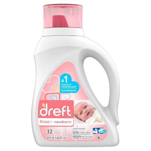 Dreft Stage 1 Newborn Liquid Laundry Detergent 50 Fl Oz